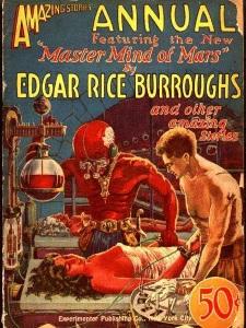 A Mars géniusza magazinborítón, Frank R. Paul 1927