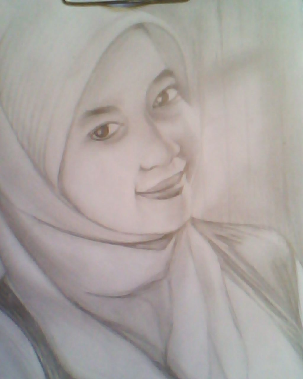 Download Kumpulan Gambar Sketsa Wajah Perempuan Berjilbab