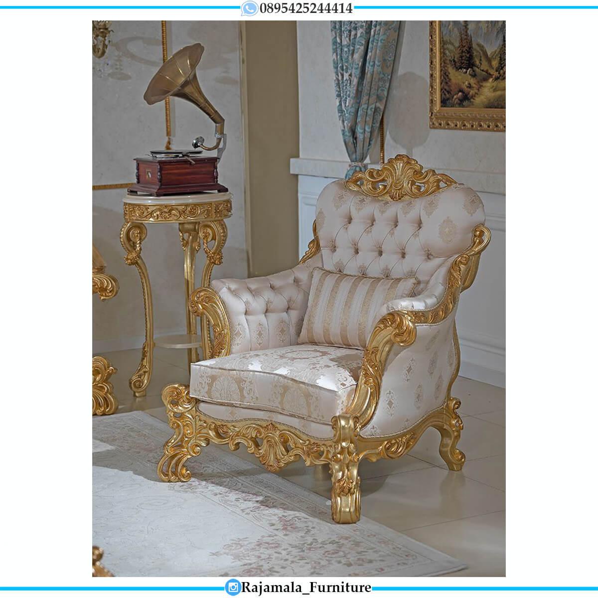 Sofa Tamu Mewah Ukiran Jepara Luxury Golden Duco Color RM-0752