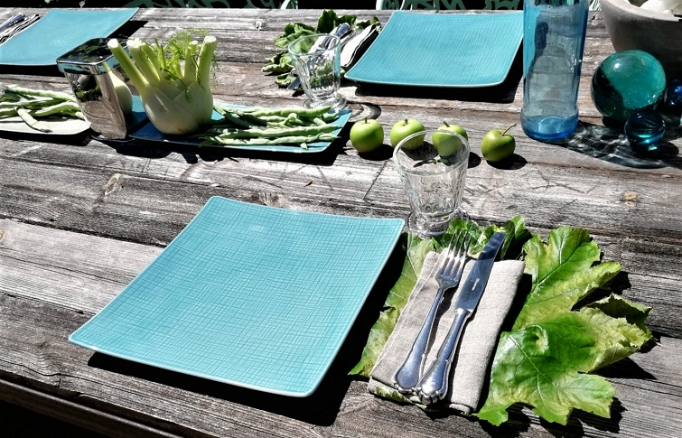 Gemüse als Tischdeko