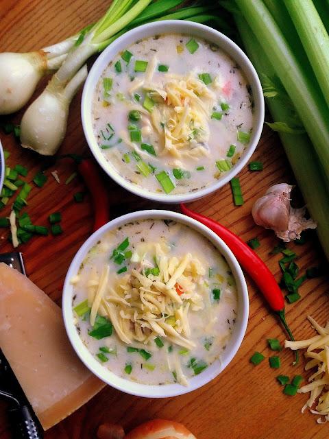 Zupa z ziemniaczana z serem i kurczakiem / Chicken and Potato Chowder