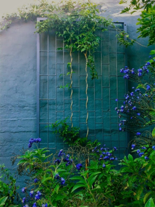 Colores para las paredes del patio o la terraza - Guia de jardin