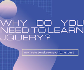 Why do you need to learn jquery?