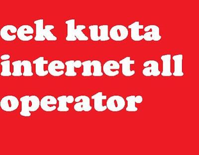 Pengguna smartphone yang ingin terhubung dengan koneksi internet tentu nya diharuskan unt Bagaimana cara cek sisa kuota paket internet All Operator