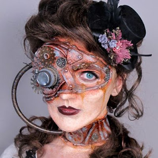 Steampunk special fx makeup with mask