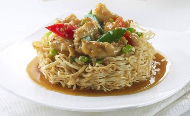 Mie Daging Ayam Cah Cabai Hijau
