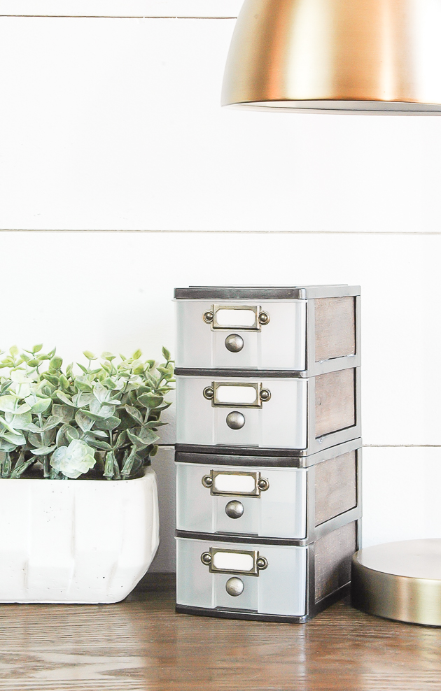How to turn dollar tree drawers into industrial farmhouse storage, dollar Tree