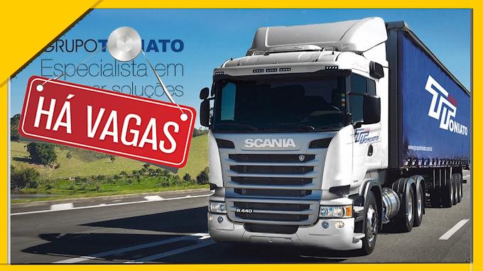 Toniato Transportes abre vagas para Motorista categoria D