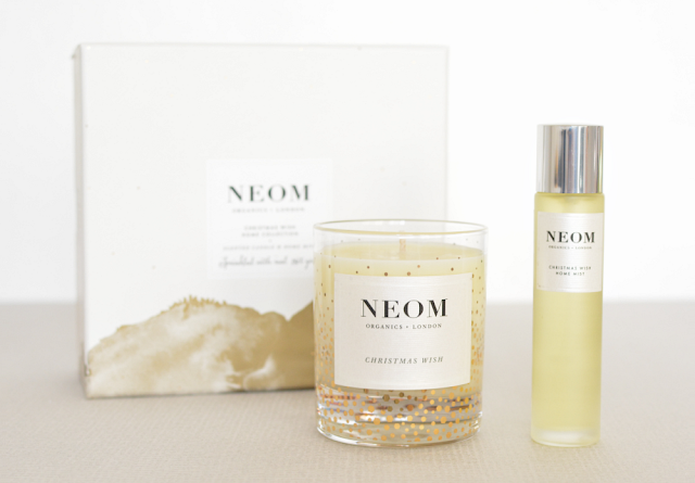 Neom, Neom Christmas wish, Neom christmas wish home collection, Scented candle, Home mist