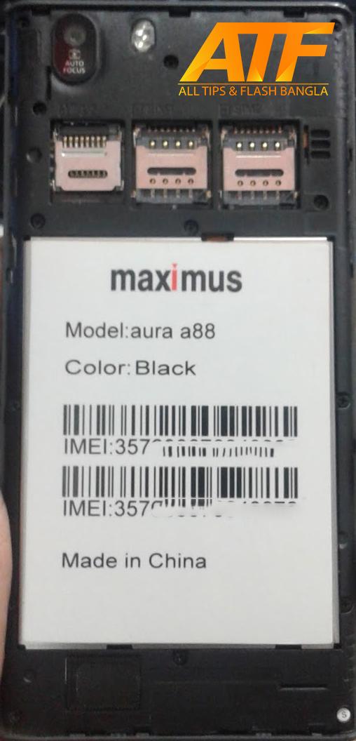 MAXIMUS AURA A88 FLASH FILE FIRMWARE STOCK ROM