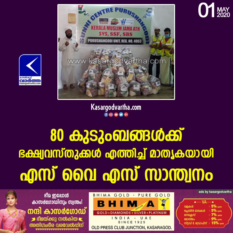 Kerala, News, SYS distributed food kits
