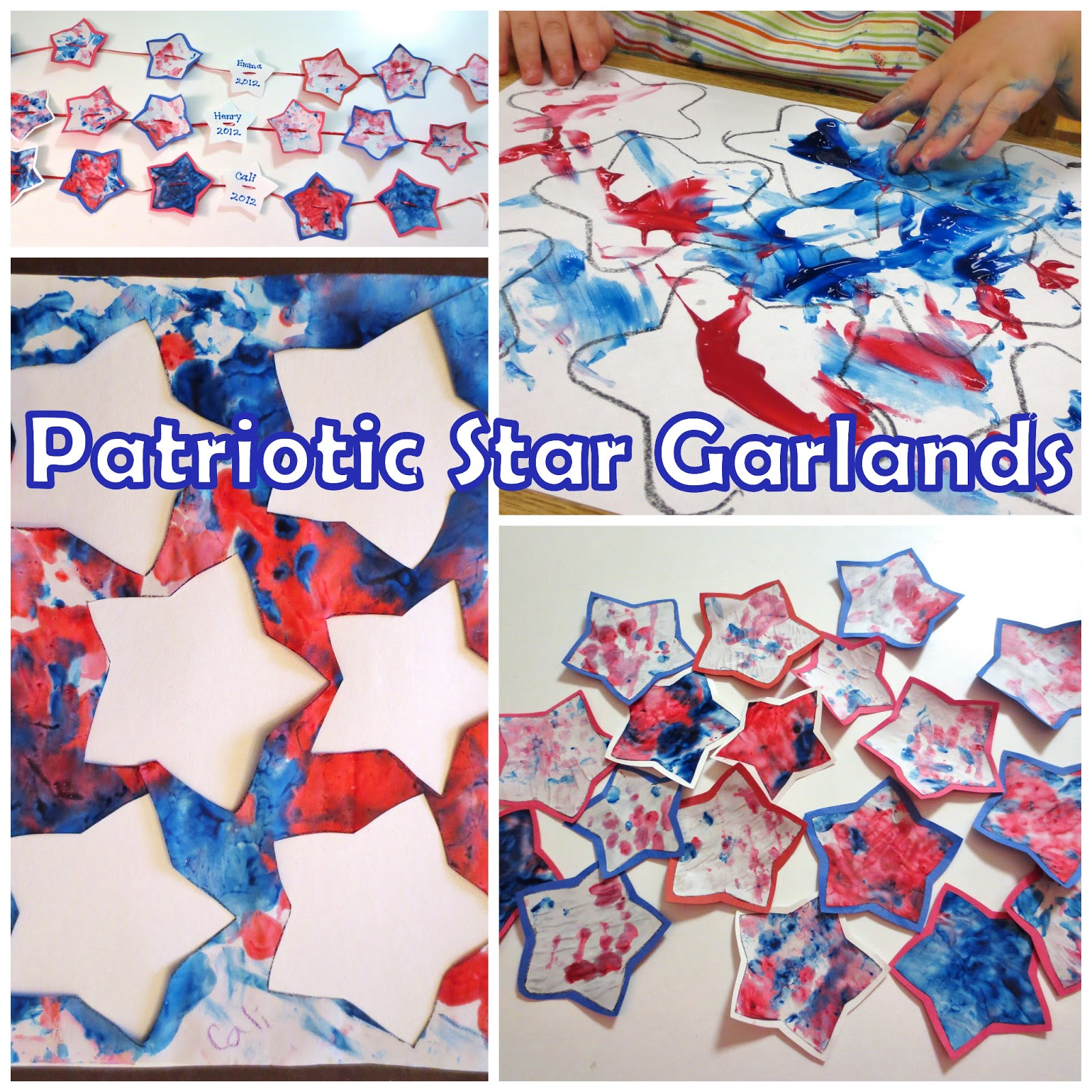 Princesses Pies Amp Preschool Pizzazz Patriotic Star Garlands