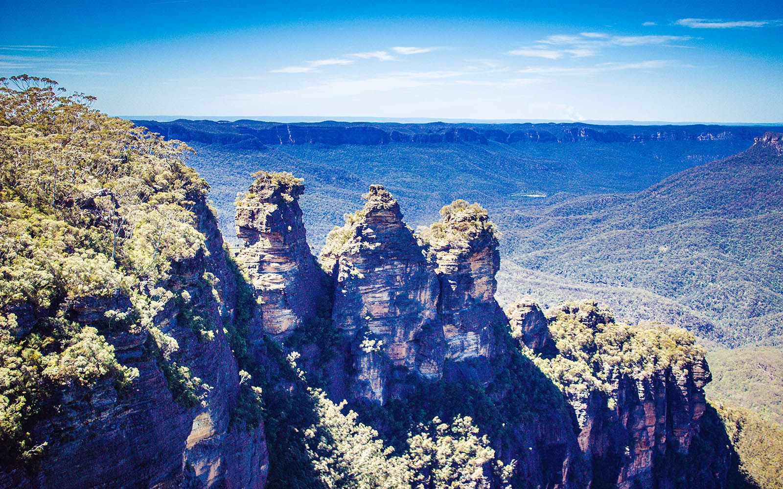 Three sisters blue mountains echo point Australia