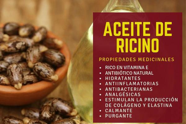 El aceite de ricino tiene propiedades maravillosas como la de ser un antibiótico natural