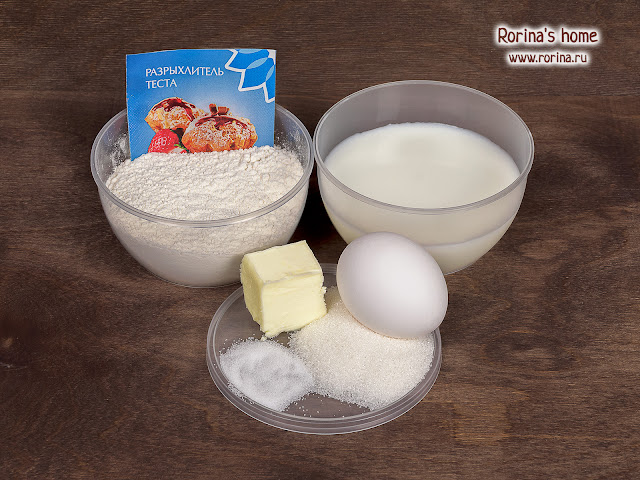 Ингредиенты для классических панкейков на молоке