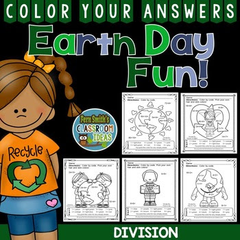 Earth Day Color By Numbers Division