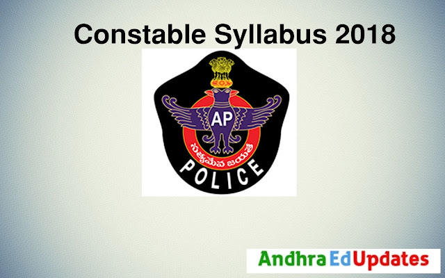 Andhra Pradesh Constable Syllabus 2018