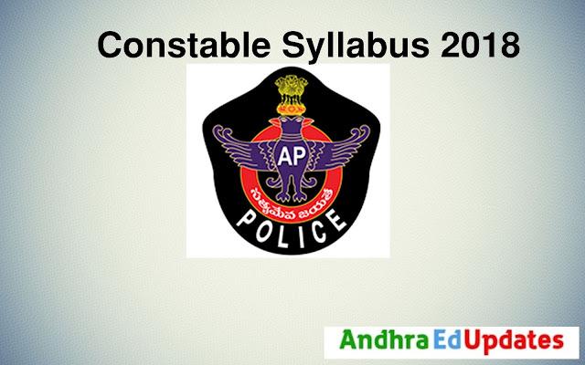 Andhra Pradesh Constable Syllabus 2018