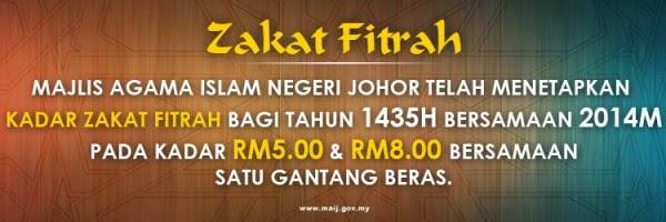 Zakat Fitrah negeri Johor 1435H   2014M  845c68c3a2
