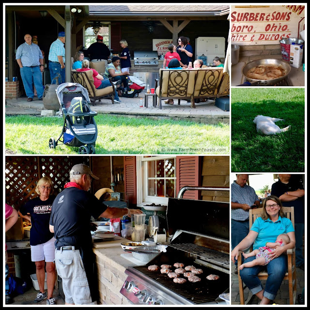 scenes from the farm dinner at the Surber family hog farm