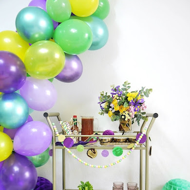 Mardi Gras Bar Cart Styling Ideas + Cajun Bloody Mary Recipe