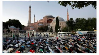 Turkish President renounces international criticism over the  conversion of Hagia Sophia to mosque