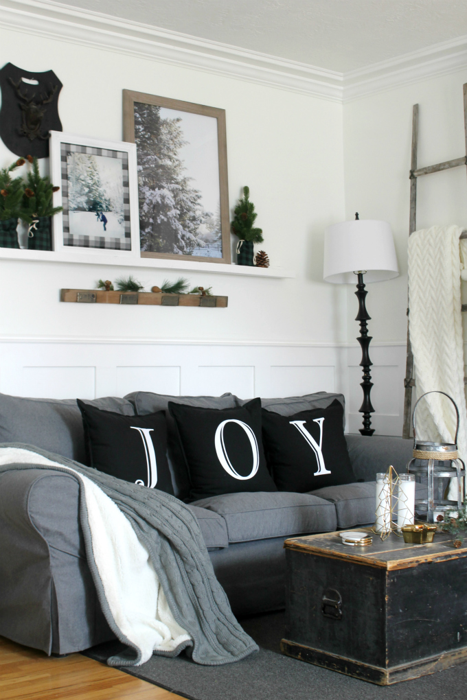not only does comfort works make the most beautiful tailored slipcovers but they also carry a selection of unique christmas home decor that i want to share - Cozy Christmas Decor