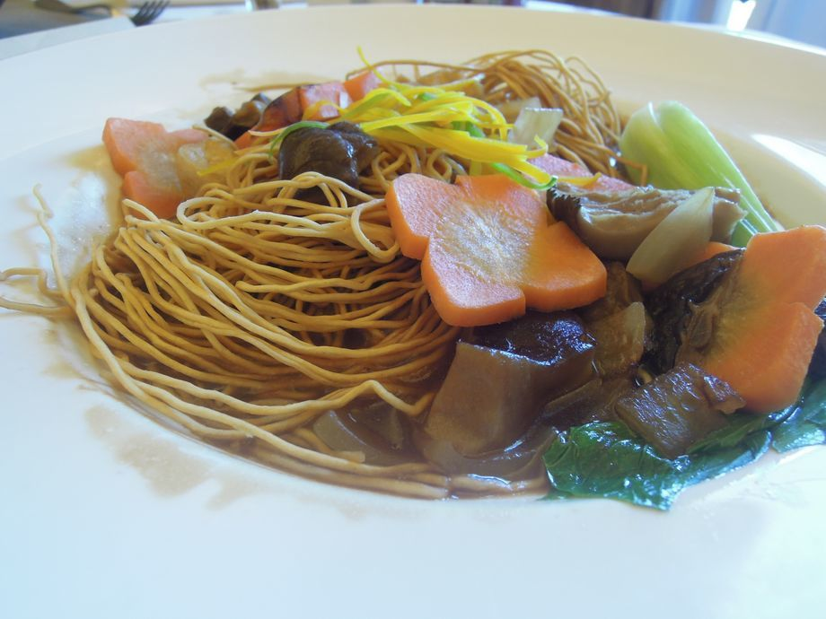 Crunchy noodles at Shangri-La's Mactan Resort and Spa