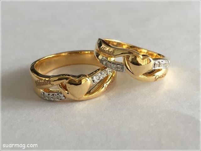 خواتم ذهب رقيقه جدا 6 | Simple gold rings 6