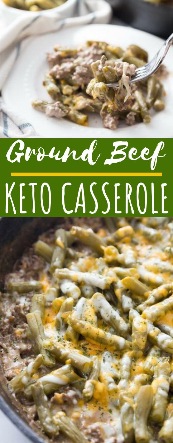 Keto Ground Beef Casserole #healthy #keto