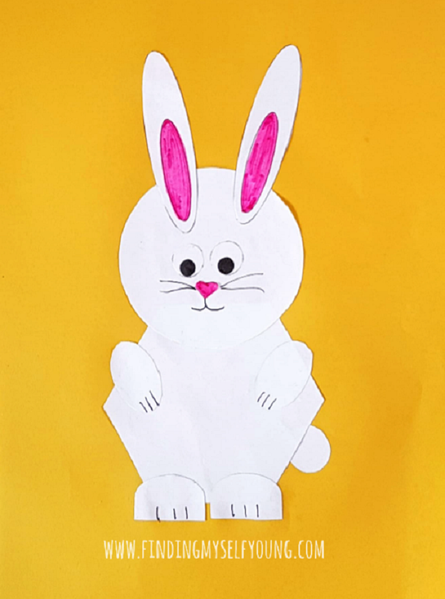 shape bunny paper craft