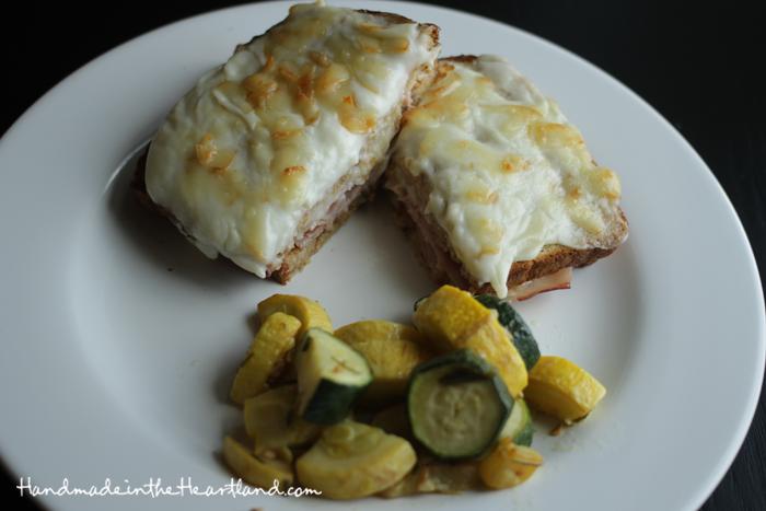 Croque Monsieur & Rosemary Squash & Zucchini