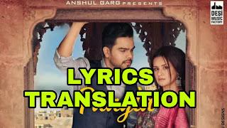 Paagla Lyrics in English | With Translation | - Akhil | Avneet Kaur