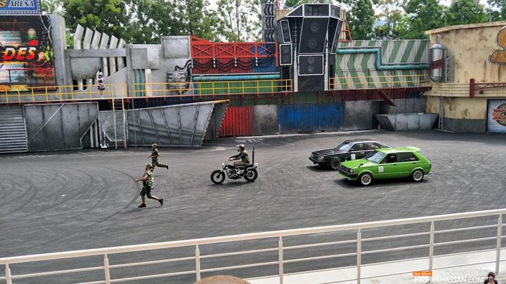 Aksi Stunt Legends Movie Animation Park Studios Perak