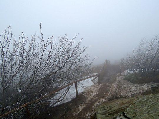 Końcowe dojście pod skały Osadzkiego Wierchu.