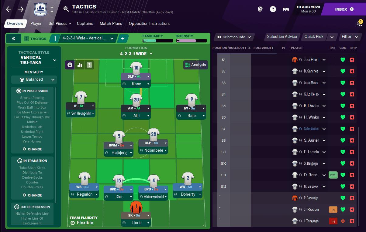 Football Manager 2021 Tottenham Tactic | Spurs FM21