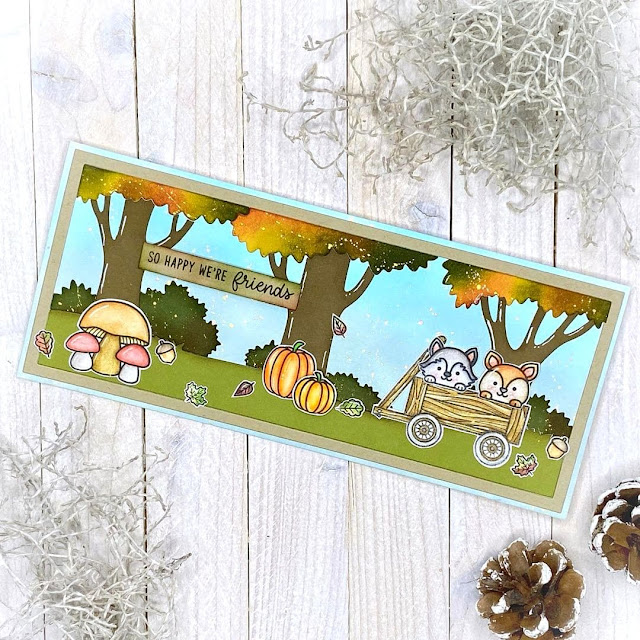 Sunny Studio Stamps: Fall Friends Customer Card by Conis kreative Ideen