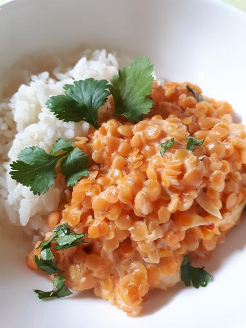 Curry rouge de lentilles roses