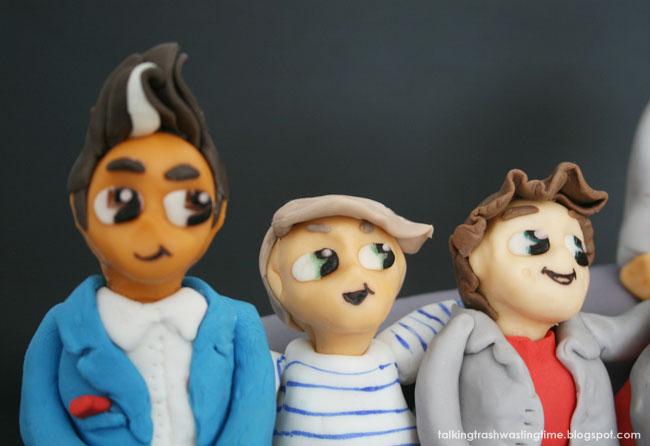 Fondant cake figures, Harry Styles, Louis & Zayn