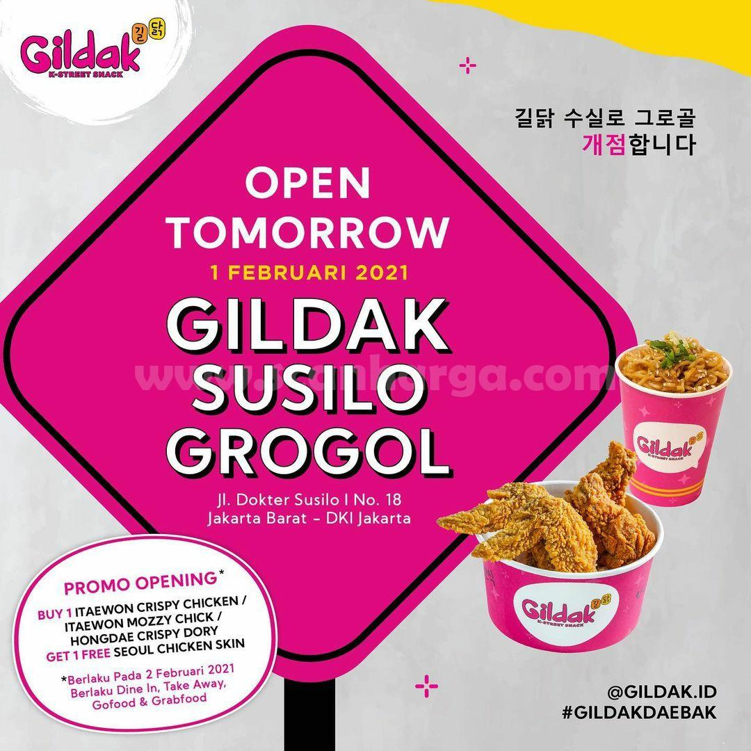 GILDAK Susilo GROGOL Opening Promo Beli 1 GRATIS 1