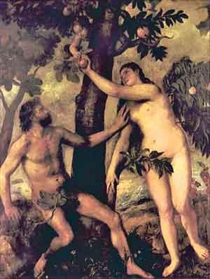 Lilith megkisérti Évát a kígyó képében