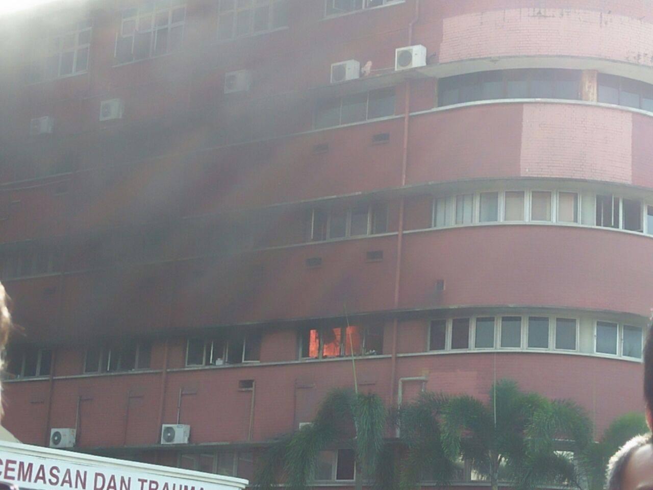 Hospital Sultanah Aminah Terbakar Johor Bahru