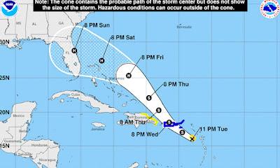 Centro de Operaciones de Emergencia aumenta  10 provincias en alerta por la tormenta Dorian