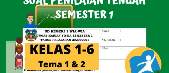 Kisi-Kisi Soal PTS Kelas 1 - 6 Semester 1 K13 Revisi Terbaru