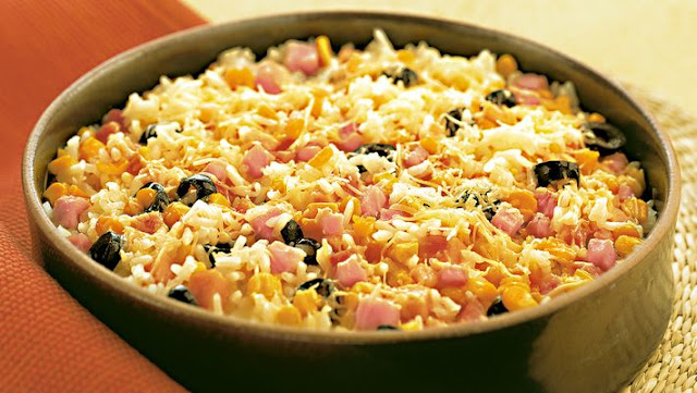 arroz de forno simples tudo gostoso