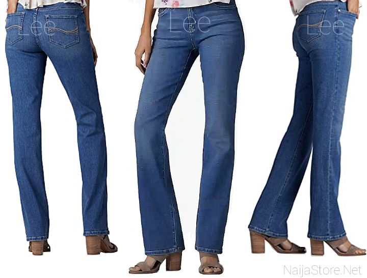 LEE Women's Jeans with Bootcut Style - Ladies Denim Jean Trousers with Pockets