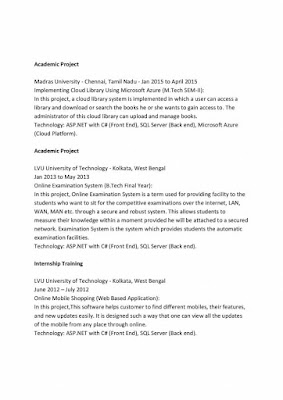 M.Tech CS Resume Format 2