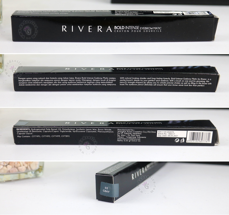 Review Rivera Bold Intense Eyebrow Matic Gray