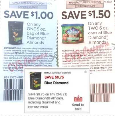 blue diamond deal insert coupons dec 2019