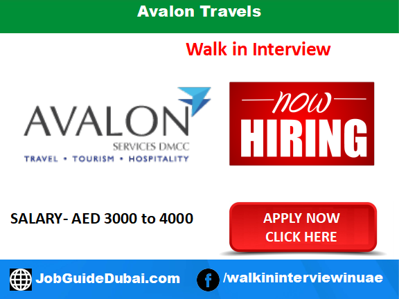 Avalon Travels career for sales and Business Development jobs in Dubai UAE